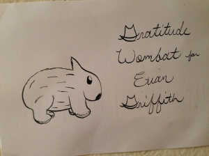 One of the gratitude wombats